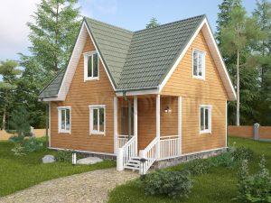 Каркасный дом с мансардой ДК-45