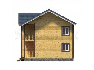 Дом из бруса с балконом Д-41