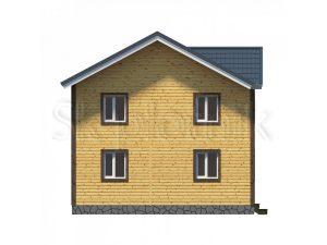 Дом из бруса 8х9 Д-41 2 этажа
