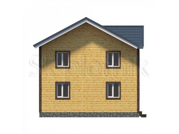 Дом из бруса 8х9 Д-41 2 этажа. Картинка №1