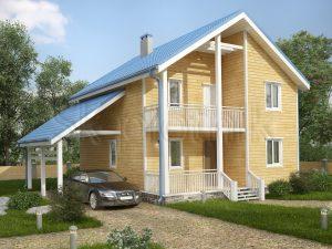Каркасный дом с гаражом ДК-56
