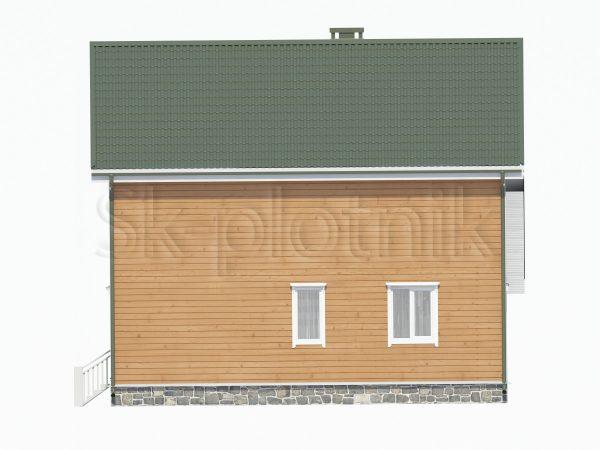 Дом из бруса 8х9 с навесом Д-56. Картинка №1