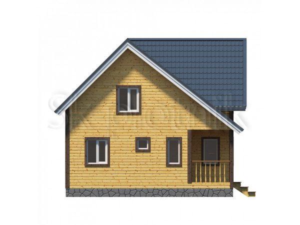 Дом из бруса на 2 семьи Д-43. Картинка №1