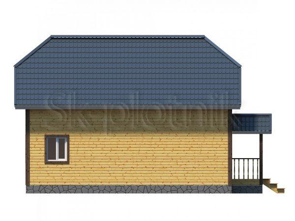 Дом из бруса Д-44. Картинка №1