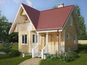 Каркасный дом с эркером ДК-10