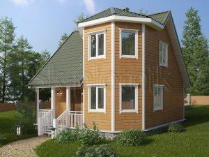 Каркасный дом с эркером ДК-22