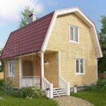 Каркасный дом с мансардой ДК-12. Миниатюра №1