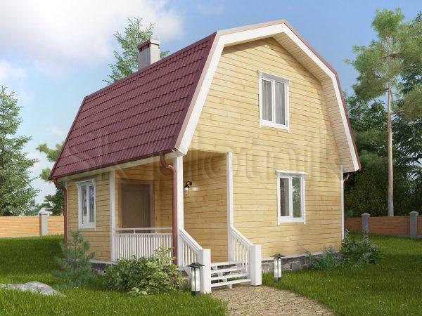Каркасный дом с мансардой ДК-12. Картинка №1