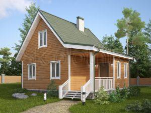Каркасный дом с мансардой ДК-14