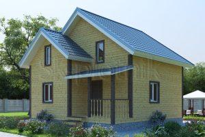 Каркасный дом с санузлом ДК-9