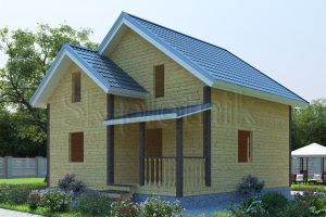 Дом из бруса с санузлом ДС-9