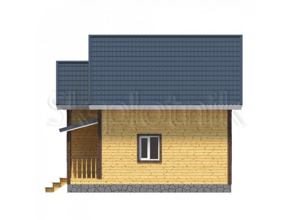 Дом 8х8 из бруса с санузлом Д-9. Картинка №1