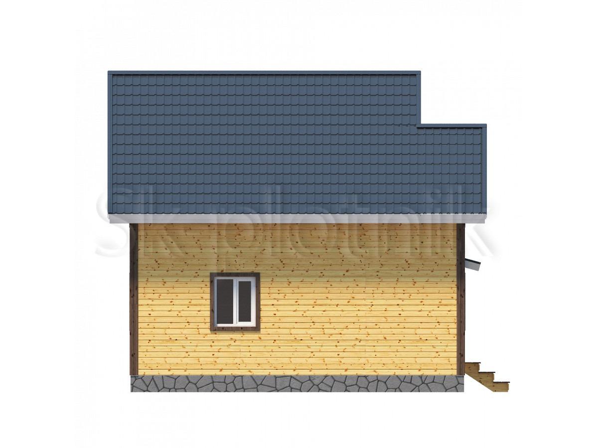 Дом из бруса с санузлом Д-9