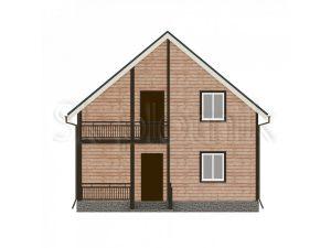 Дом из бруса с балконом Д-24