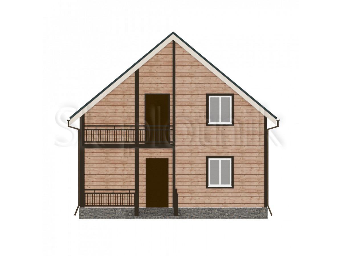 Дом из бруса с балконом ДС-24