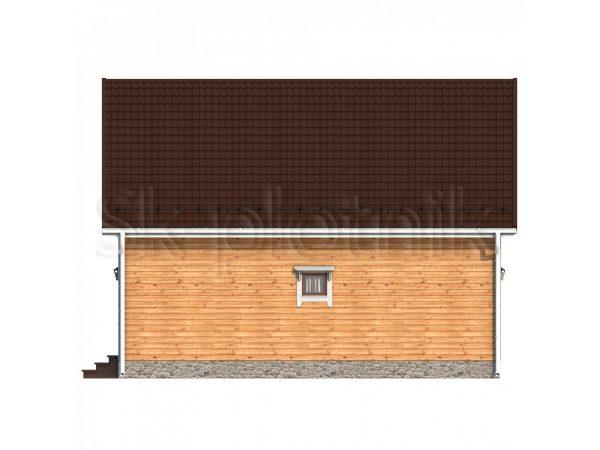 Дом из бруса с котельной Д-58. Картинка №1