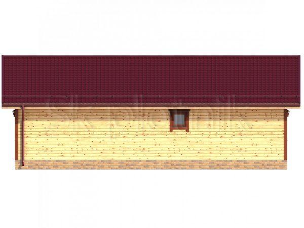 Дом из бруса 8х12 Д-64. Картинка №1