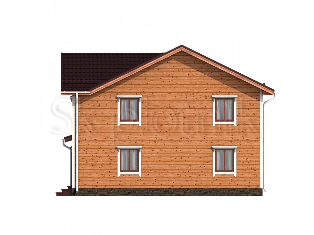 Дом из бруса с котельной Д-59
