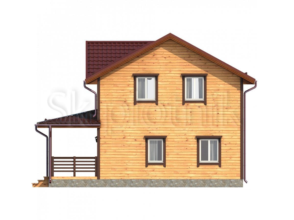 Дом 9х10 из бруса с котельной Д-65
