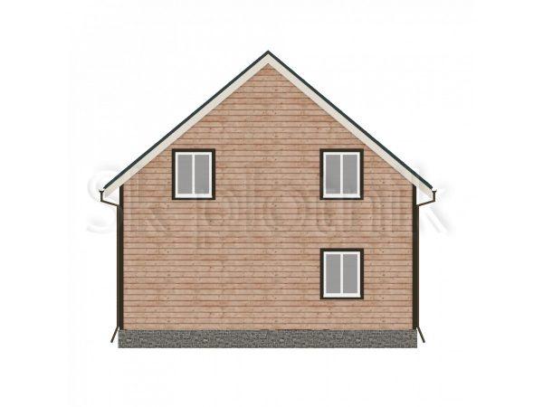 Брусовой дом 8х8 Д-24. Картинка №1