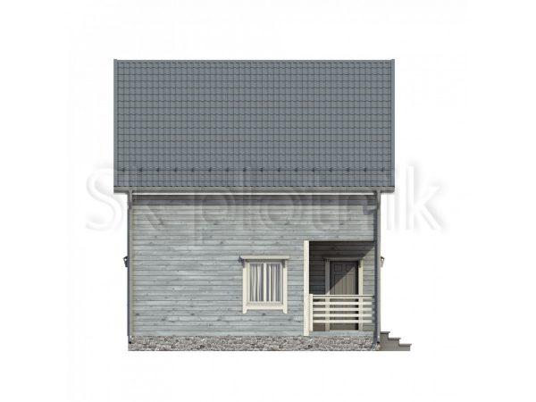 Дом из бруса с мансардой Д-57. Картинка №1