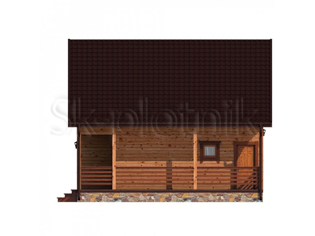 Дом из бруса с балконом Д-60