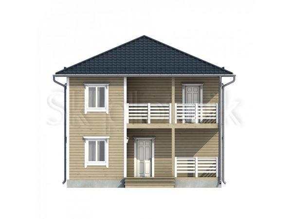 Двухэтажный дом из бруса Д-63. Картинка №1