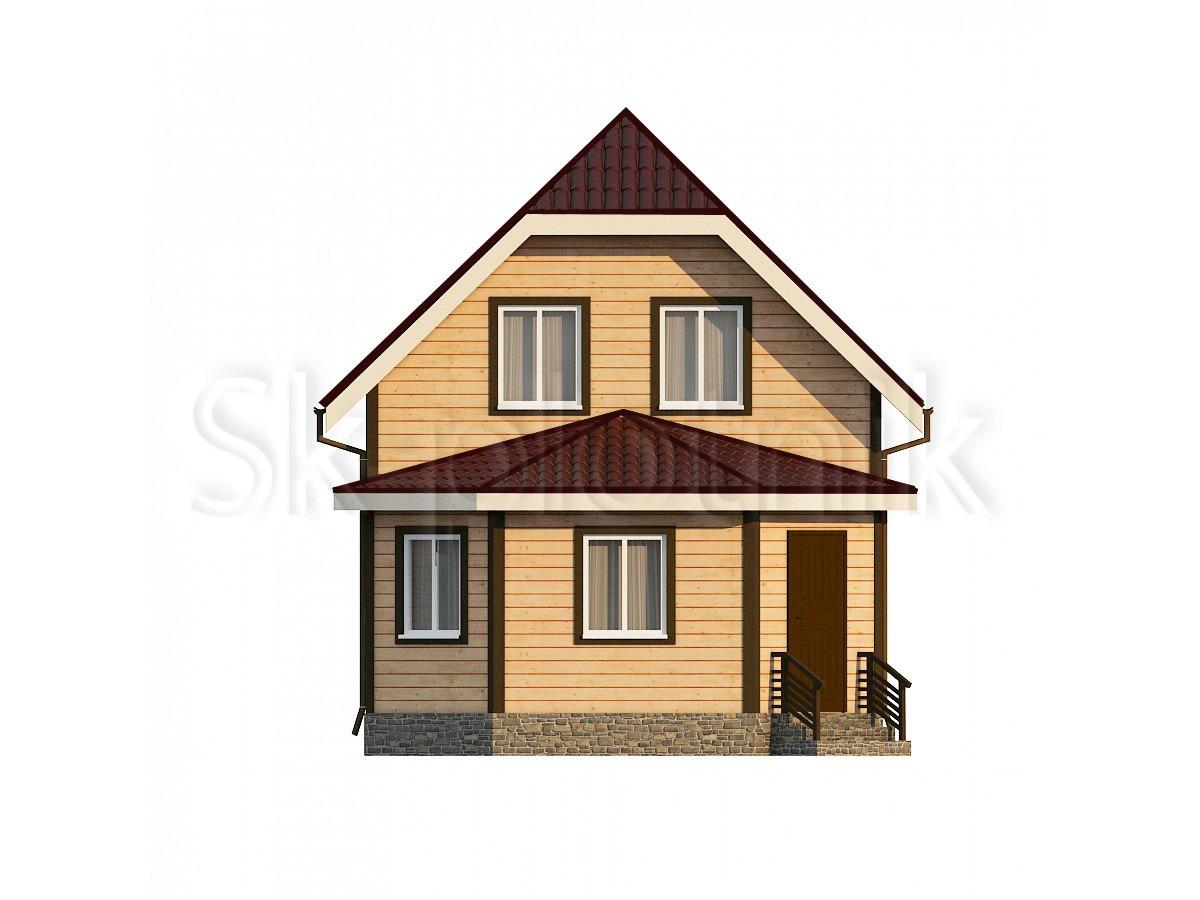 Дом из бруса с эркером Д-16