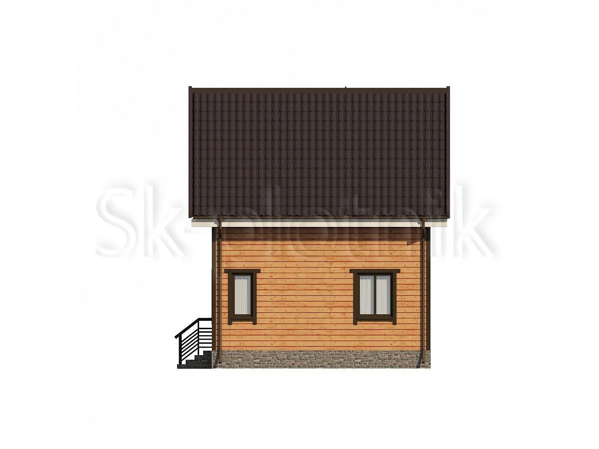 Дом из бруса с балконом Д-31