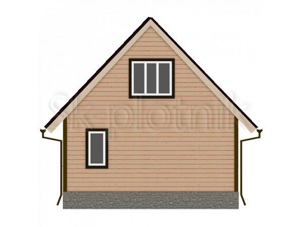 Дом из бруса 7х7 Д-8. Картинка №1