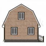 Проект дома из бруса 6х6 Д-11. Миниатюра №1