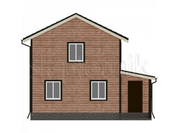 Дом из бруса с санузлом Д-15. Картинка №1