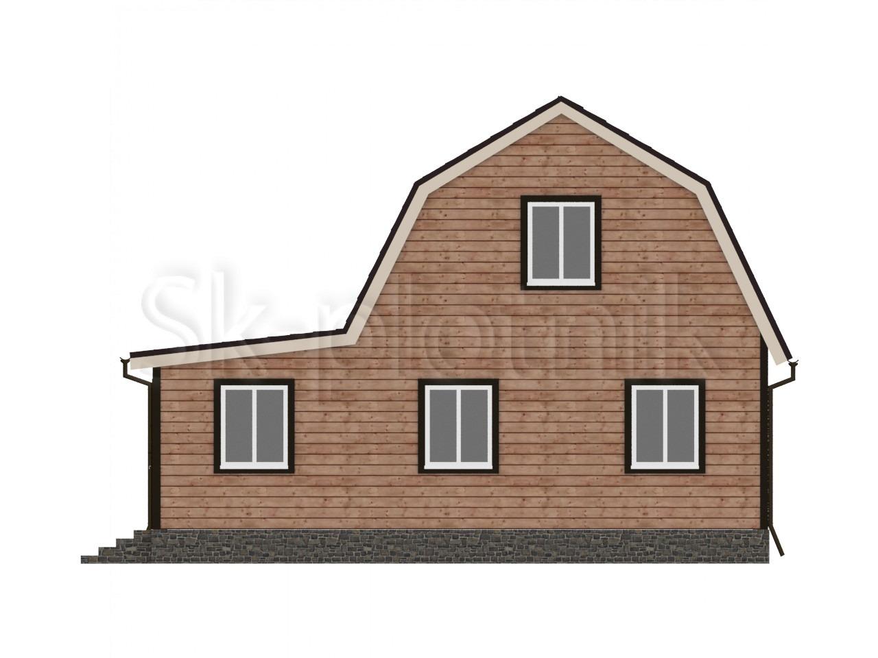 Дом из бруса с мансардой Д-17