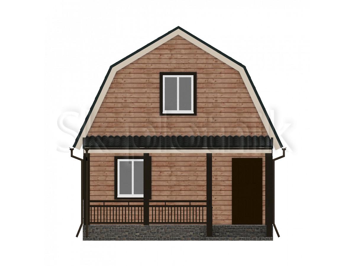 Дом из бруса с мансардой Д-18