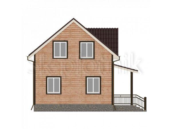 Дом из бруса с санузлом Д-21. Картинка №1