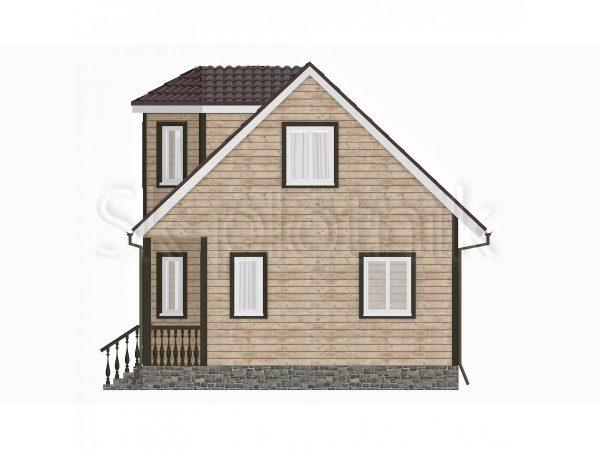 Дом из бруса с эркером Д-22. Картинка №1