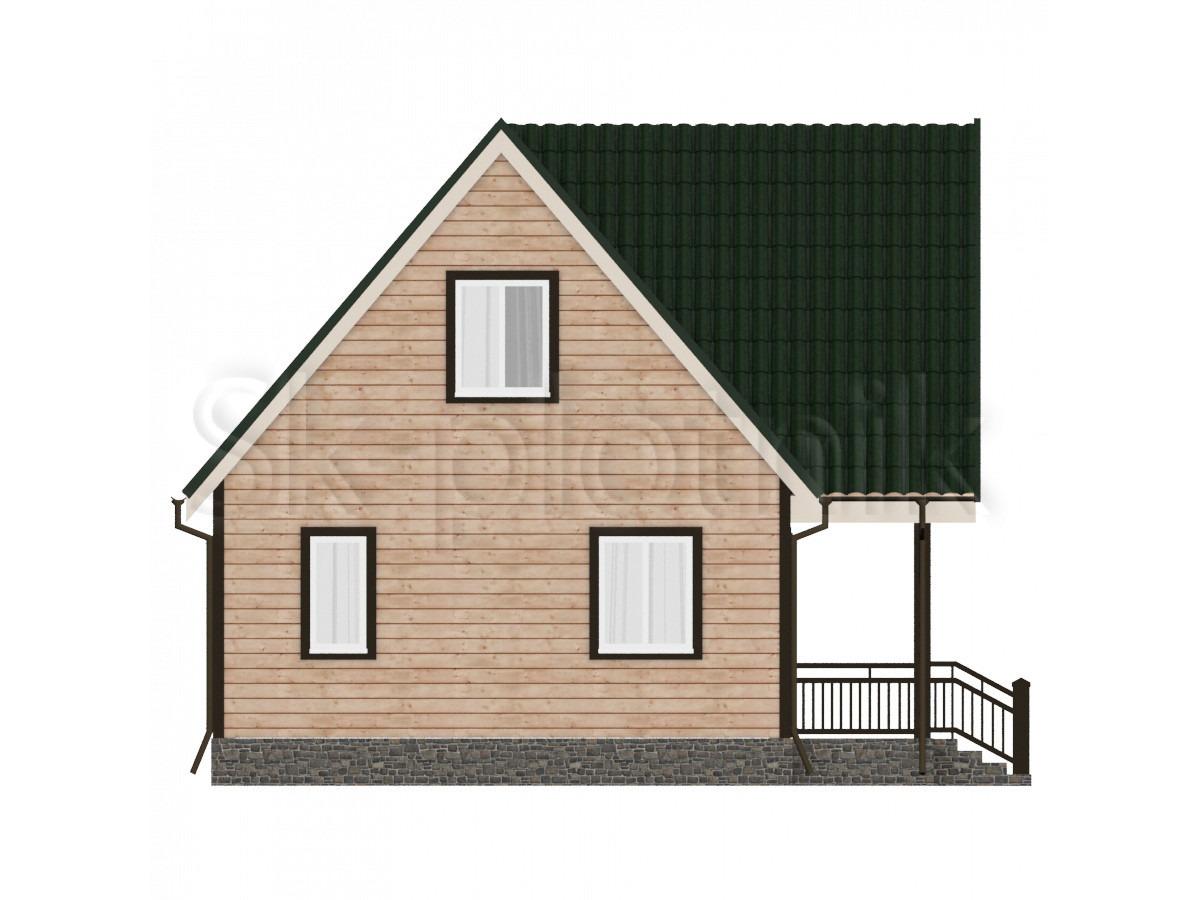 Дом из бруса с мансардой Д-28