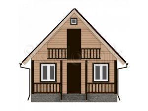 Дом из бруса с балконом Д-8