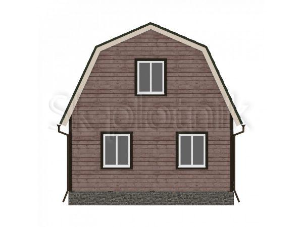 Дом из бруса 6х8 с балконом Д-1. Картинка №1