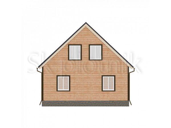 Дом из бруса с мансардой Д-32. Картинка №1