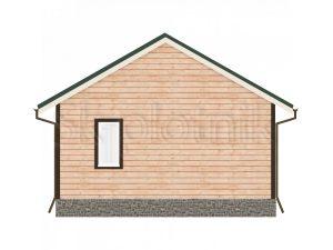 Дом из бруса с санузлом Д-49