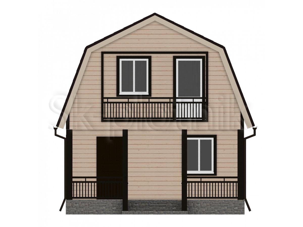 Дом из бруса с балконом Д-2