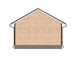 Дом из бруса с санузлом Д-50