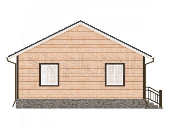 Дом из бруса с санузлом Д-54. Картинка №1