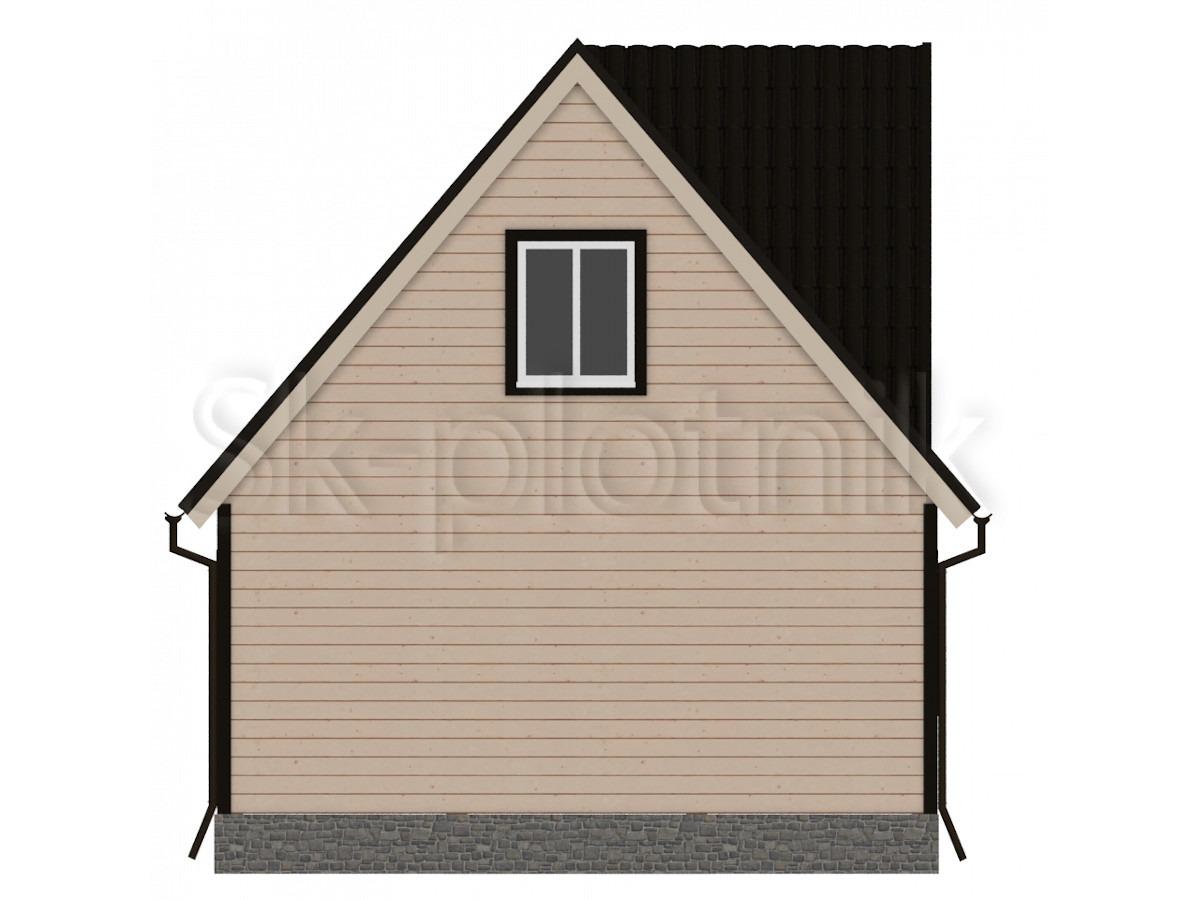 Дом из бруса 6х8 с мансардой Д-4
