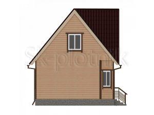 Дом из бруса с балконом Д-10
