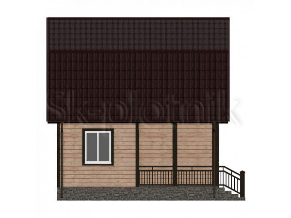 Дом из бруса 6х6 с мансардой Д-12. Картинка №1