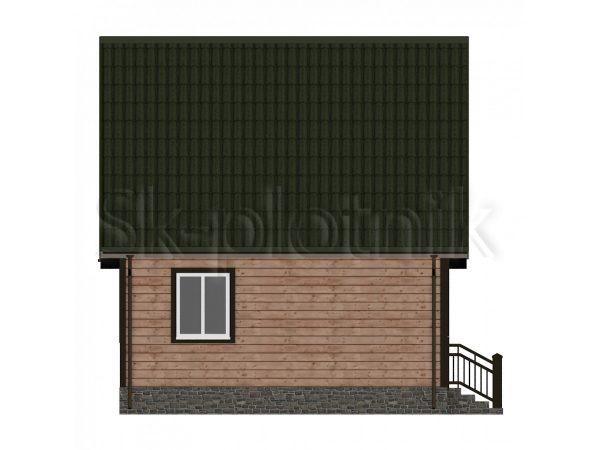 Дом из бруса с мансардой Д-14. Картинка №1