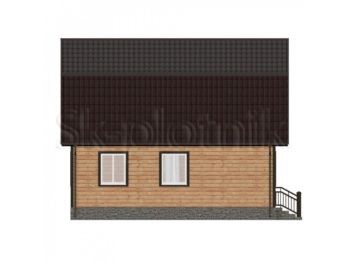 Дом из бруса с котельной Д-19