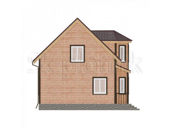 Дом из бруса 6х7 с эркером Д-23. Картинка №1